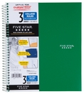 Five Star Wirebound College Ruled Notebook3Sub 200ct 8.5x11