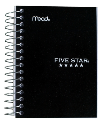 Five Star Fat Lil Wirebound Notebook, College Ruled, 5 12 x 4, Assorted Colors