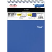 Five Star Topbound Notepad, 1 Subject, College Ruled