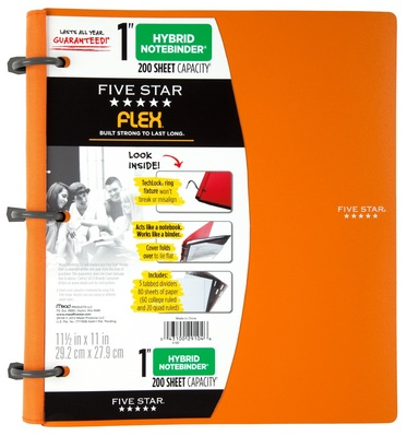 Five Star Flex 1 Hybrid Notebinder Orted Colors The Andrews University Book