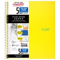 Five Star Trend Wirebound Notebook, 5 Subject, College Ruled, 11 x 8 12