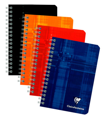 Exaclair The classic Clairefontaine wirebound notebook in assorted colors.