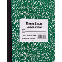 Roaring Spring Black Marble Composition Book 9.75 x 7.5 College Ruled with Margin