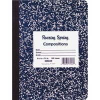 Roaring Spring Bue Marble Composition Book 9.75 x 7.5 Unruled