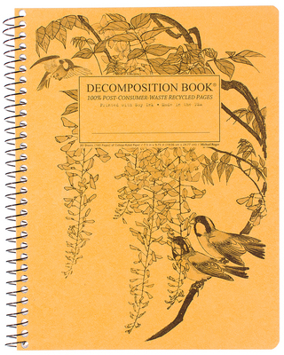 Leafy Perch Coilbound Decomposition Book Lined 7.5x9.75