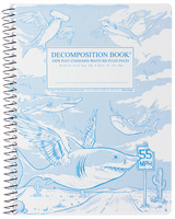 Michael Roger Flying Sharks Coilbound Decomposition Book, CR