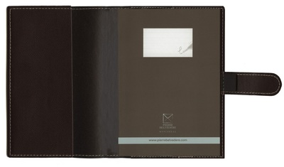 Pierre Belvedere Refillable Journal Chocolate