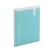 Poppin Aqua 1Subject Pocket Spiral Notebook