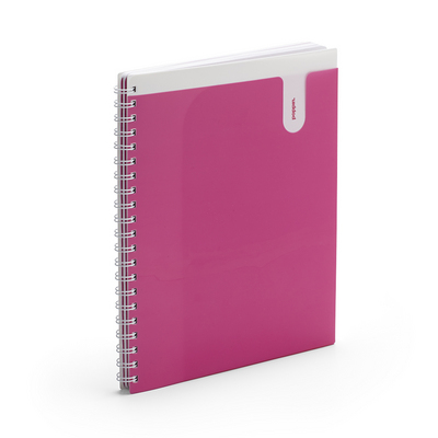 Poppin Pink 3Subject Pocket Spiral Notebook