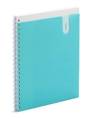 Poppin Aqua 3Subject Pocket Spiral Notebook
