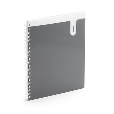 Poppin Dark Gray 1Subject Pocket Spiral Notebook