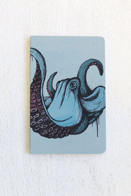 Denik 5.25 x 8.25 Octopus softcover notebook 144 Pages