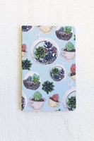 Denik 5.25 x 8.25 Succulents softcover notebook 144 Pages