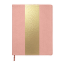 C.R. Gibson Blush and Gold Large Flex Leatherette Journal