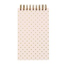 C.R. Gibson Pink and Gold Dot Spiral Bound Flip Pad, 5x8