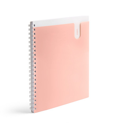 Poppin Blush 1 Subject Pocket Spiral Notebook