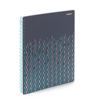 Poppin Slate Silver 1 sub Wiredbound Notebook  (Exclusive)