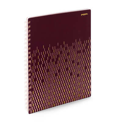Poppin WineGold 1 sub Wiredbound Notebook  (Exclusive)