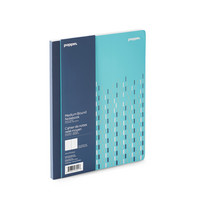 Poppin Aqua Silver Comp Notebook  (Exclusive)