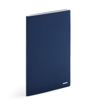 Poppin Navy Double Booked Dot Grid Notebook Refill