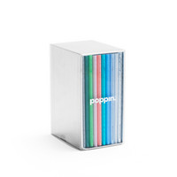 Poppin Mini Medley Assorted Pastels Soft Cover Notebooks, Set of 10