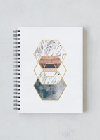 Denik Gold Hexes spiral Notebook