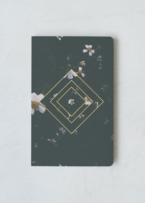 Denik Emerald Floral Notebook