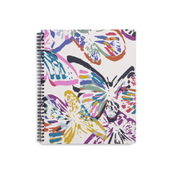 Vera Bradley Large Notebook with Pocket Butterfly Flutter