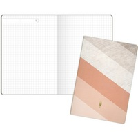 Inkwell Stripe Sewn Journal, Coral (Exclusive)
