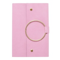 CR Gibson Snap closure, Velvet with gold metal ring, 256 lined pages, measures 6.25 x 8.5