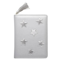 CR Gibson Star patches, Leatherette cover, Tassel zipper closure, Refillable, 352 lined pages