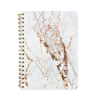 Pierre Belvedere Marble Gold Sparkle Notebook 7x9.5