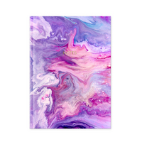 Pierre Belvedere Purple Pink Marble Bound Notebook 7x9