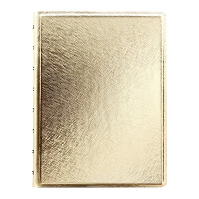 Filofax Refillable A5 Notebook, Metallic Gold