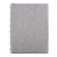 Filofax Refillable A5 Notebook, Metallic Silver