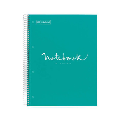 Miquel Rius Emotions Teal Board Cover 1 Sub Notebook