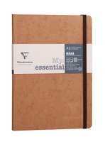 Exaclair Clairefontaine My Essential Paginated Notebook Tan