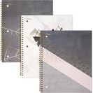Mead Modern Chic Notebook, 1 Subject, College Ruled, 10 12 x 7 12