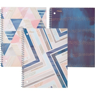Mead Shape It Up Notebook, 1 Subject, College Ruled, Assorted Designs