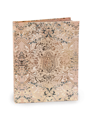 Papaya Hardcover Journal, 7x9, Lotus Garden