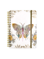 Papaya Spiral Bound Notebook, 7x9, Solar Blooms