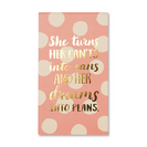 Motto Journal by Compendium What if?  Flexicover with woven ribbon, 144 dotted grid pages