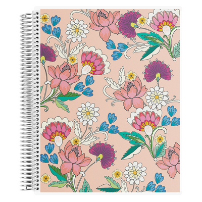 Erin Condren Vintage Floral Notebook, Lined   8 x 11