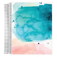 Erin Condren Watercolor Notebook, Productivity Layout   7 x 9