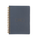 Pierre Belvedere Medium Notebook Soft cover with blue diagonal stripes