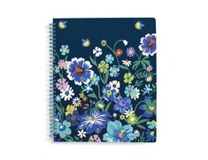 Notebook with Pocket, Moonlight Garden