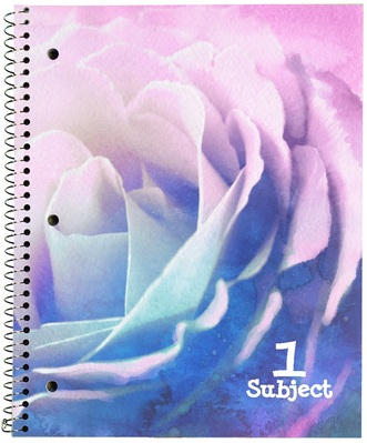 Petals 1 subject notebook, CR