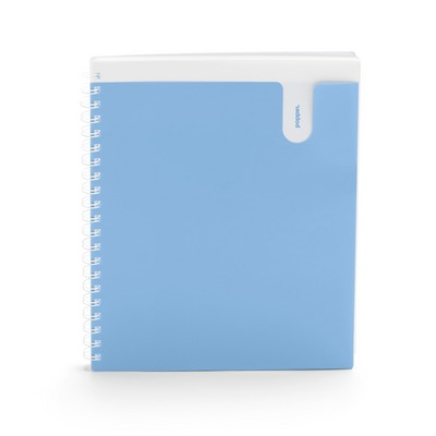 Poppin Sky Blue 1Subject Pocket Spiral Notebook