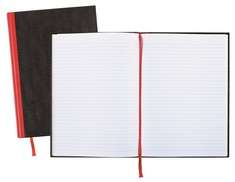 Black n Red Hardcover Business Notebook, Casebound, 96 Sheets, 11 34 x 8 14