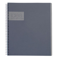 Oxford Idea Collective Action Notebook Double WireO 11 X 8 14 Ruled 80 Sheets Gray